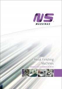 Catalogue Metal Finishing machines