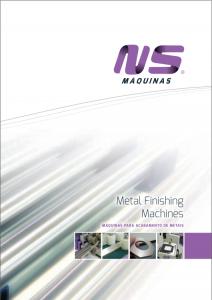 Catalogue Metal Finishing machines